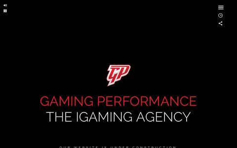 Screenshot of Home Page gaming-performance.com - Gaming Performance the IGaming Agency - captured Jan. 25, 2016
