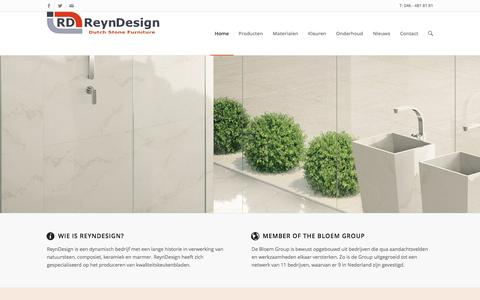 Screenshot of Home Page reyndesign.nl - Home - ReynDesign | Dutch Stone Furniture - captured Aug. 14, 2016