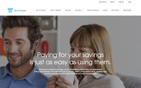 Screenshot of Pricing Page dentalsave.com - Pricing | DentalSave Dental Plans - captured June 4, 2017
