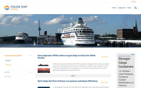 Screenshot of Press Page cruiseshipportal.com - February // Cruiseshipportal - captured Feb. 14, 2018