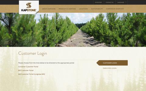 Screenshot of Login Page kapstonepaper.com - Customer Login |KapStone Paper and Packaging | KapStone - captured Oct. 27, 2014