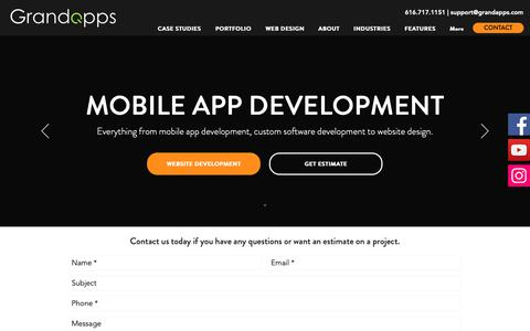 Screenshot of Home Page grandapps.com - Grand Apps | Mobile App Development - captured Dec. 8, 2018