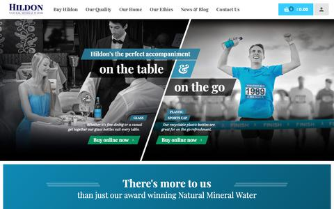 Screenshot of Home Page hildon.com - Home | Hildon – Natural Mineral Water - captured Sept. 28, 2018
