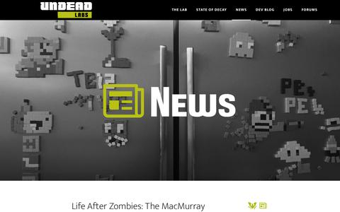 Screenshot of Press Page undeadlabs.com - News - captured Feb. 21, 2016