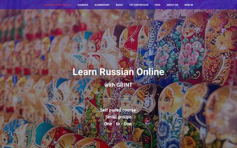 Screenshot of Home Page russian-language.ru - Learn Russian Online - captured April 4, 2017