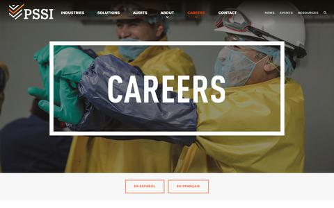 Screenshot of Jobs Page pssi.com - Careers - PSSI - captured Jan. 18, 2019