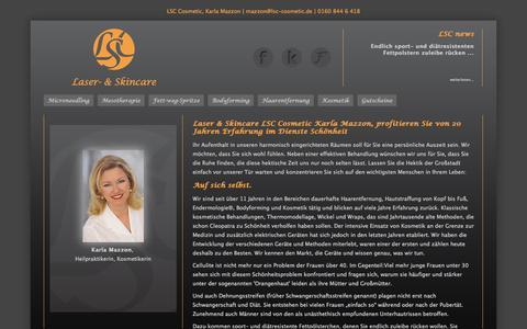 Screenshot of Home Page lsc-cosmetic.de - Start - captured Oct. 1, 2014
