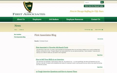 Screenshot of Blog firstassoc.com - First Associates Blog - Contact Us | First Associates, Ltd. - captured Oct. 6, 2014