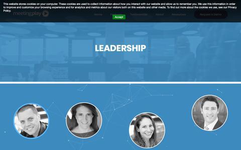 Screenshot of Team Page meetingplay.com - Mobile Event App Leadership - MeetingPlay - captured Sept. 20, 2018
