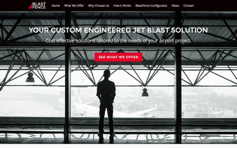 Screenshot of Home Page blastfence.com - Home - BlastFence - captured Sept. 13, 2015