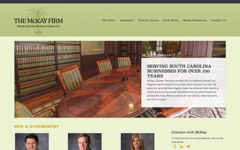Screenshot of Home Page mckayfirm.com - Home - The McKay Firm - captured Feb. 12, 2016
