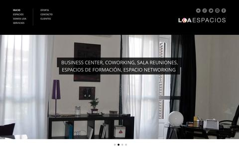 Screenshot of Home Page loaespacios.com - LOA ESPACIO|Su espacio profesional en  Madrid - captured Oct. 8, 2016