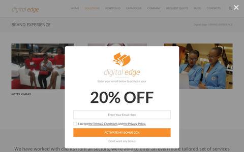 Screenshot of Case Studies Page digitaledgekenya.com - Brand Experience Agency in Nairobi   Digital Edge - captured July 13, 2018