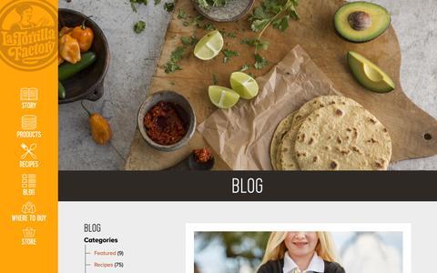 Screenshot of Blog latortillafactory.com - Blog - La Tortilla Factory - captured Nov. 4, 2018
