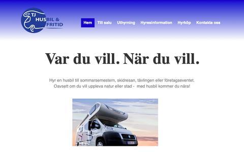 Screenshot of Home Page tjfritid.se - TJ Uppsala Fritid - TJ Husbil & Fritid - captured May 29, 2019