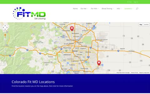 Screenshot of Locations Page fitmdusa.com - Locations | Fit MD - captured Oct. 6, 2014