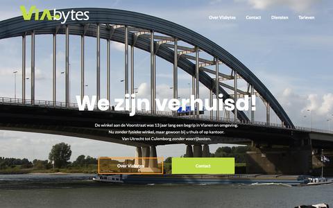 Screenshot of Home Page viabytes.nl - Viabytes is uw computerspecialist voor Vianen en omstreken - captured Oct. 18, 2018