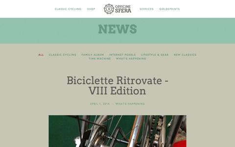 Screenshot of Press Page officinesfera.com - News Ń Officine Sfera - captured Jan. 10, 2016