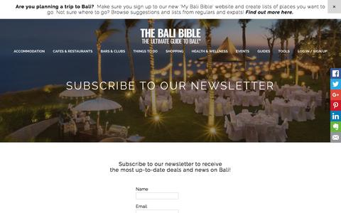 SUBSCRIBE TO OUR NEWSLETTER - The Bali Bible