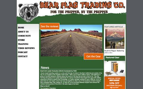 Screenshot of Home Page bearflagtrading.com - bftc - captured Oct. 5, 2014