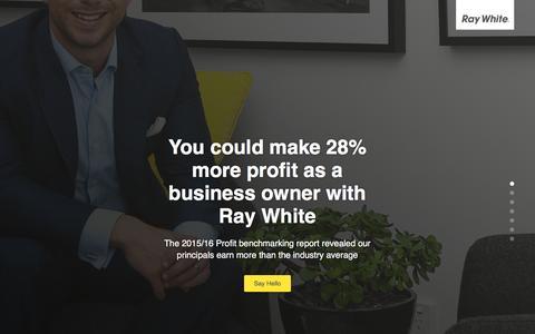 Screenshot of Landing Page raywhite.com - Ray White Recruitment - captured Aug. 13, 2016