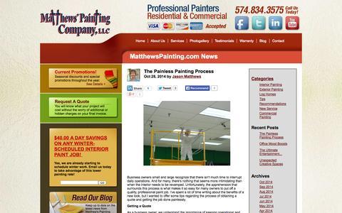 Screenshot of Blog matthewspainting.com - The Painless Painting Process - captured Nov. 1, 2014