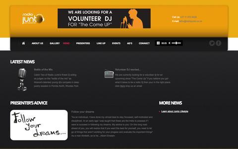 Screenshot of Press Page radiojunto.co.za - Radio Junto - captured Oct. 1, 2014