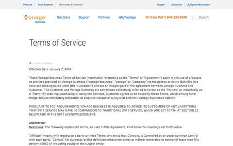 Terms of Service | Vonage Enterprise