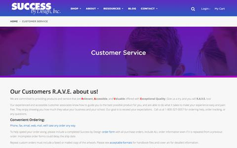 Screenshot of Support Page successbydesign.com - R.A.V.E. about Success By Design Customer Service for Orders, Shipping, Delivery for Student Planners - captured Oct. 24, 2017