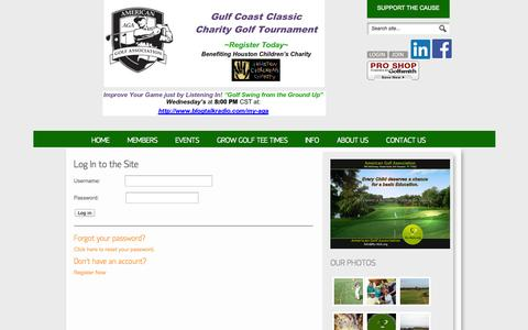 Screenshot of Login Page my-aga.org - Login American Golf Association - captured Oct. 4, 2014