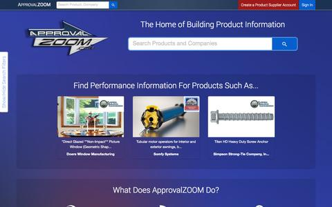 Screenshot of Products Page approvalzoom.com - ApprovalZOOM | SEARCH - captured Nov. 1, 2014