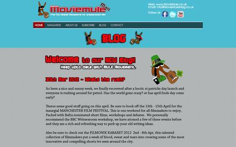 Screenshot of Blog moviemule.co.uk - Blog - captured Oct. 26, 2014