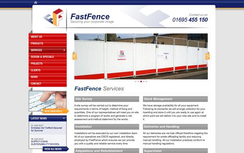 Screenshot of Services Page fastfence.co.uk - Services | Site Survey, Installations, Training | FastFence Ltd - captured Aug. 12, 2018