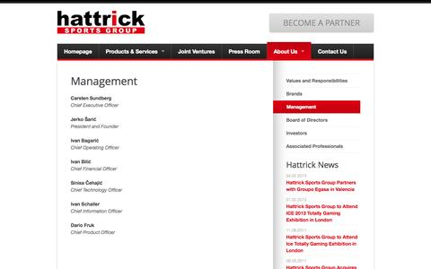 Screenshot of Team Page hattricksg.com - Management | Hattricksg - captured Oct. 2, 2014