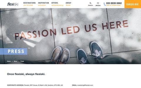 Screenshot of Press Page flexiski.com - Flexiski Press Coverage & Awards | Flexiski - captured Nov. 4, 2018