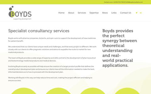 Screenshot of Services Page boydconsultants.com - Services - Boyds - captured Oct. 6, 2018