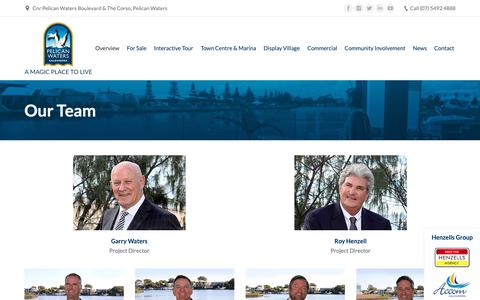 Screenshot of Team Page pelicanwaters.com - Our Team - Sunshine Coast Waterfront Property Pelican Waters - captured Sept. 27, 2018