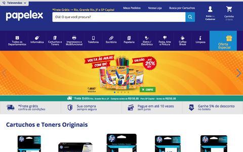 Screenshot of Home Page papelex.com.br - Papelex - captured Jan. 20, 2018