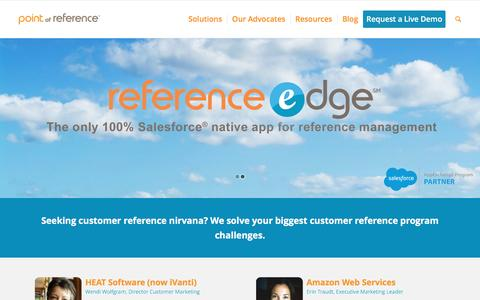 Screenshot of Home Page point-of-reference.com - Customer Reference Management Solutions | Point of Reference - captured May 18, 2017