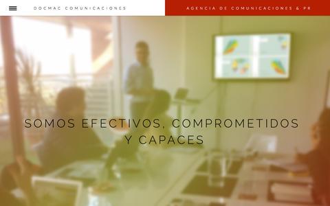 Screenshot of Home Page docmac.cl - Docmac Comunicaciones |  Agencia de Comunicaciones & PR - captured Nov. 24, 2016