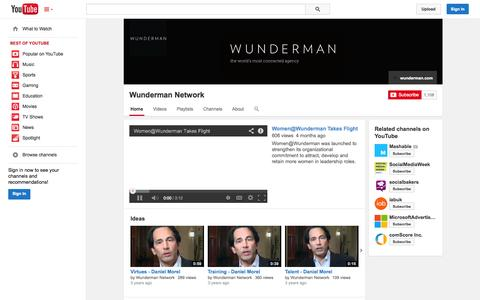 Screenshot of YouTube Page youtube.com - Wunderman Network  - YouTube - captured Oct. 26, 2014