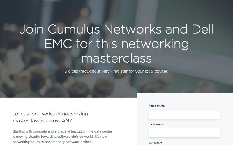 Join Cumulus Networks and Dell EMC for a class in open networking technologies and organizational best practices