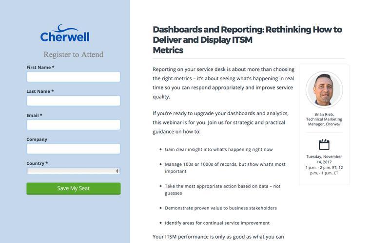 Webinar | Cherwell Service Management deep dive