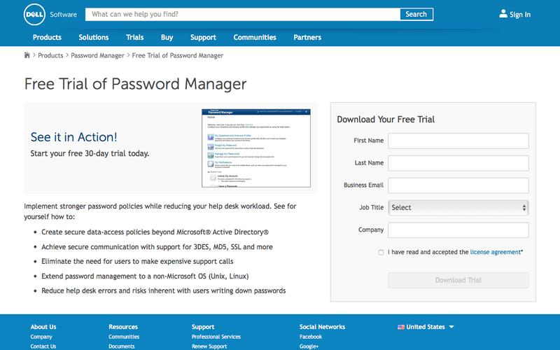 Download your free trial for Password Manager