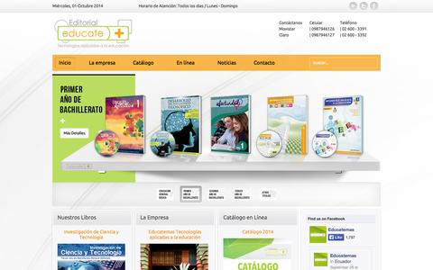 Screenshot of Home Page educatemas.org - Inicio - Educatemas - captured Oct. 2, 2014