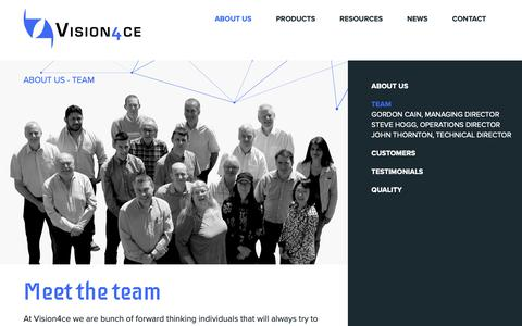 Screenshot of Team Page vision4ce.com - Electro Optic, Octec, GEIP, Aerospace & Defence - captured Oct. 18, 2018