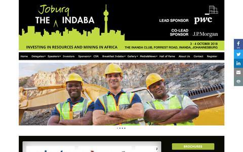 Screenshot of Home Page joburgindaba.com - Home » JoburgIndaba - captured Nov. 14, 2018