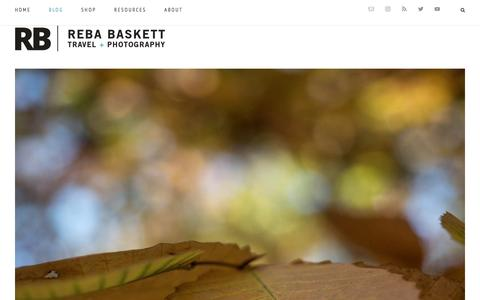 Screenshot of Blog rebabaskett.com - Photography & Travel Notes - Reba Baskett - captured Dec. 19, 2016