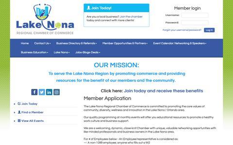 Screenshot of Signup Page lakenonacc.org - Member - PublicLayout-App - Lake Nona Regional Chamber of Commerce, FL - captured Sept. 26, 2018