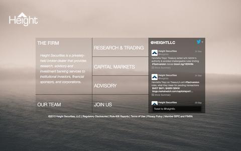 Screenshot of Home Page heightllc.com - Height Securities - captured Oct. 2, 2014
